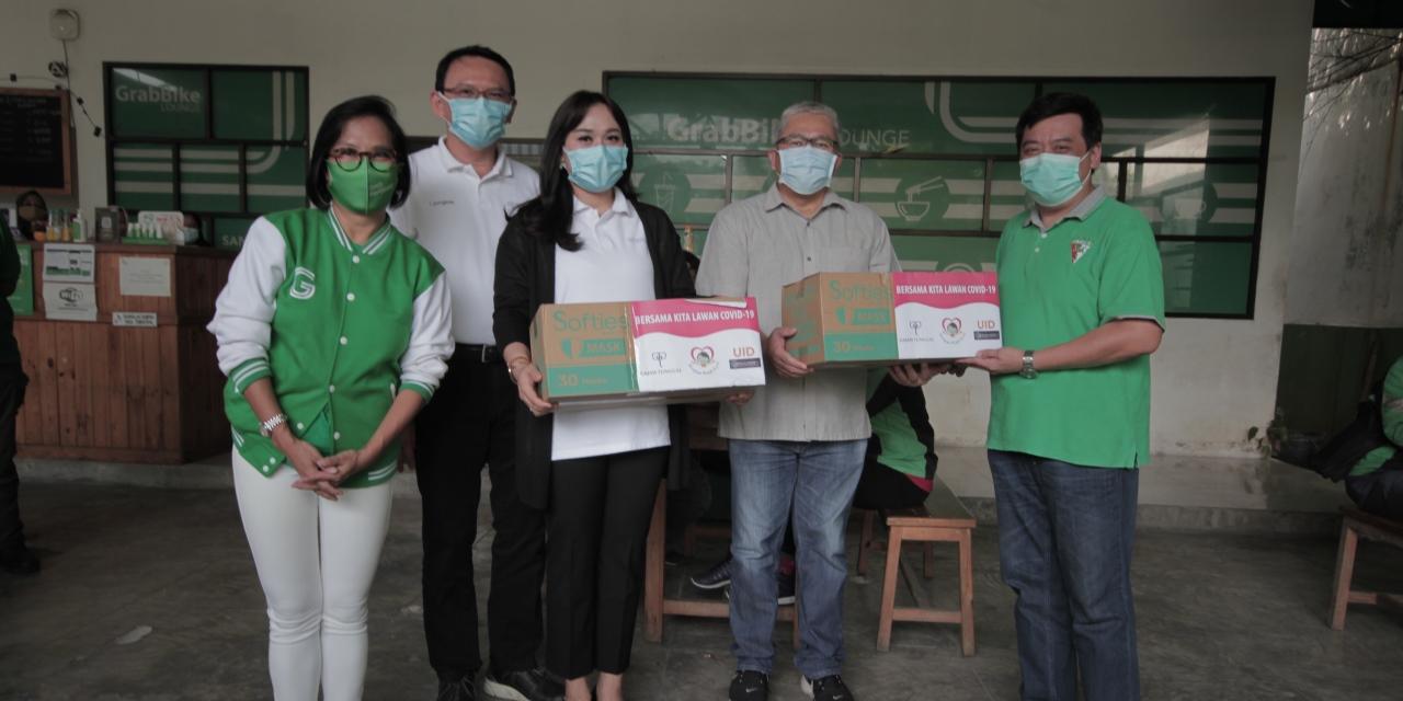 Jangkau dan Grab Donasikan Masker dan Crowdfunding